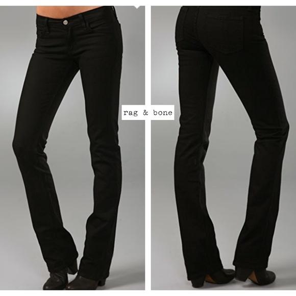 rag & bone Denim - $195~Rag & Bone~Black Stiletto Boot Cut Jeans~28